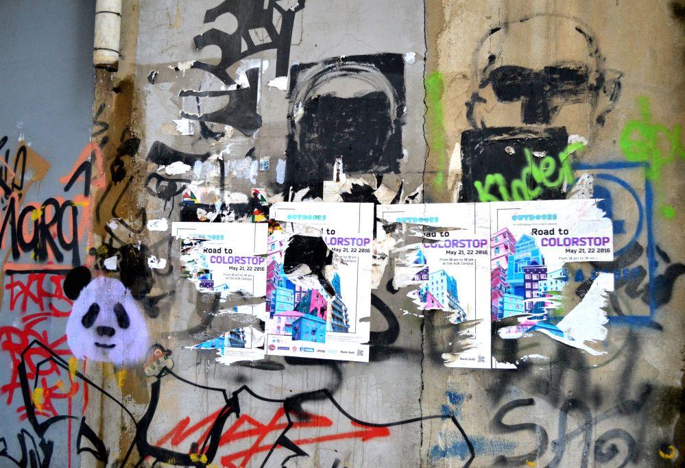 Beyrut Walls urban metaphor panda colorstop
