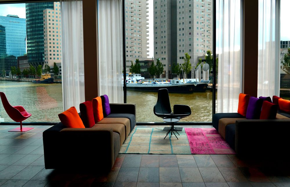Manhattan on the Maas MAINPORT HOTEL Rotterdam lobby