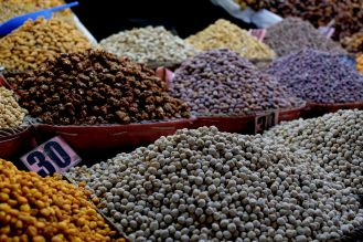 Nuts, Colors of the souk, 5 ways to explore Marrakech, Take time to immerse yourself in Jamaa el Fna square, Medina, Marrakech, Morocco