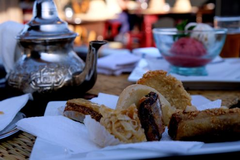 Pastries at Terrasse des épices, Contemplate the city from its rooftops, 5 ways to explore Marrakech