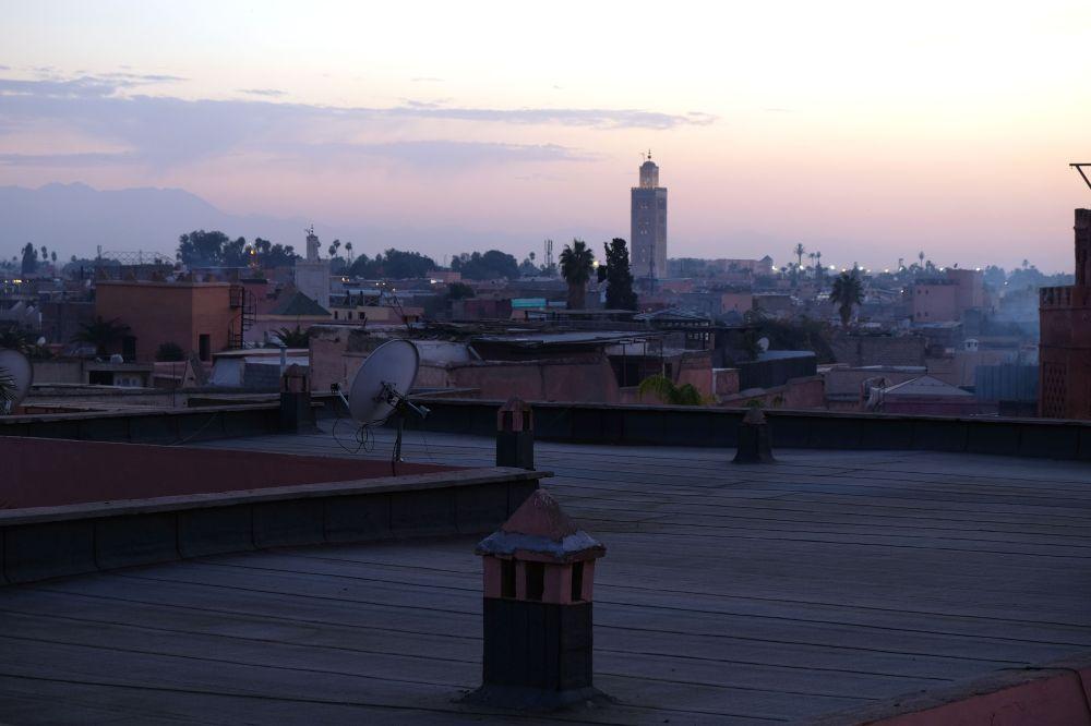 Sunset from Musée de la photographie, Contempler la ville depuis ses toits, Marrakech