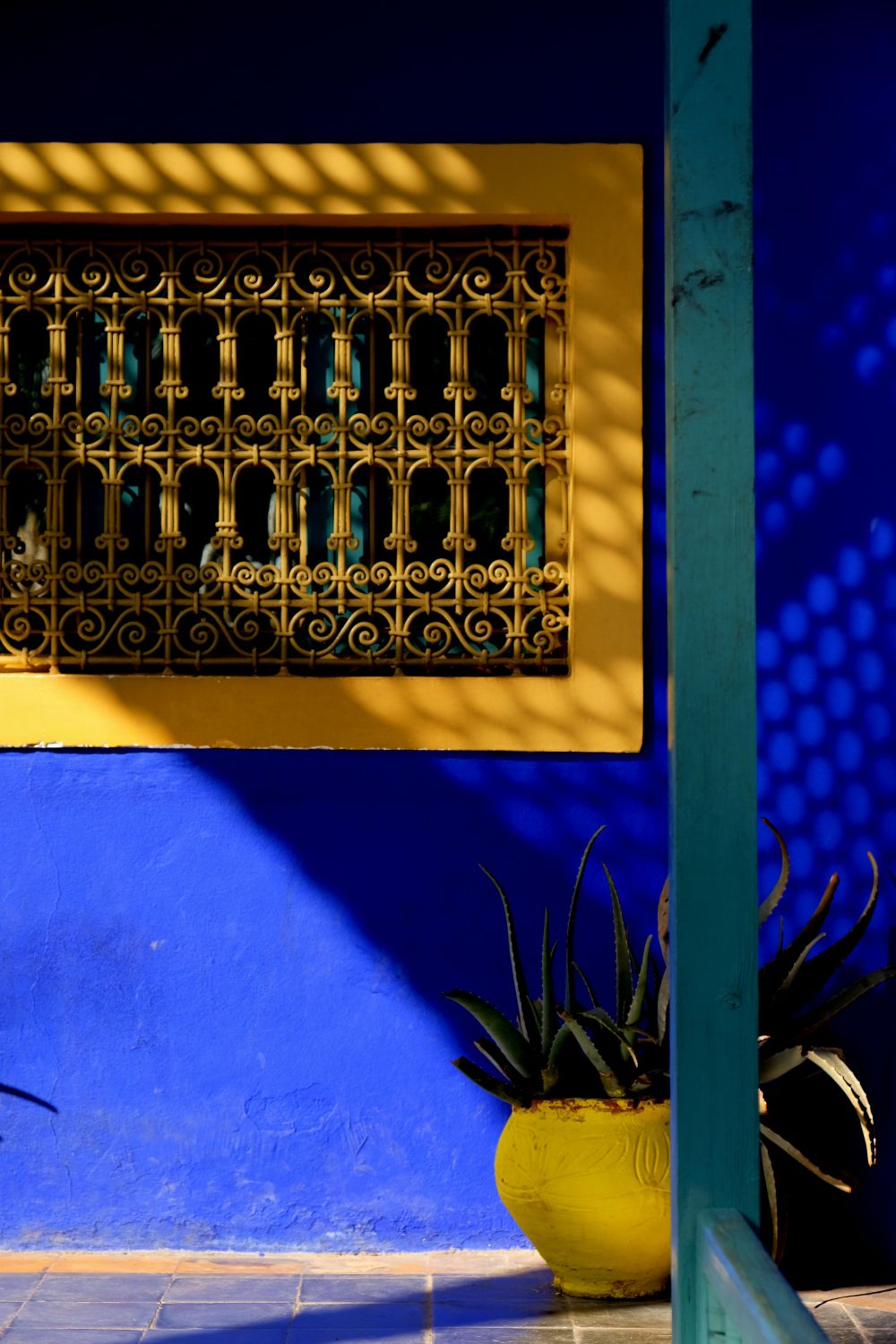 Yellow window Majorelle