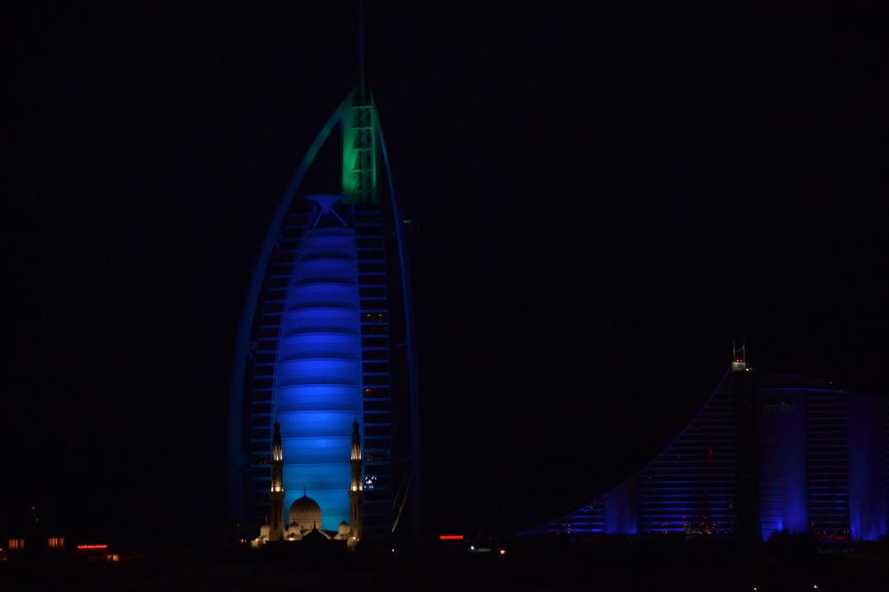 Burj-al-arab by night