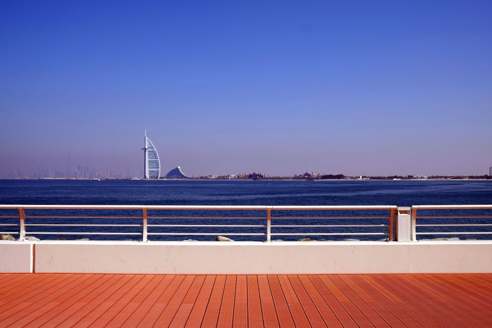 Burj-al-arab from the Palm