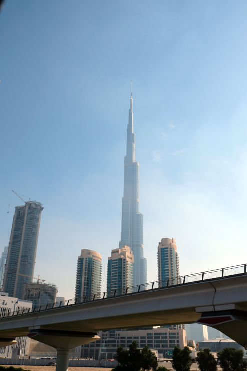 Burj Kalifa from the highway