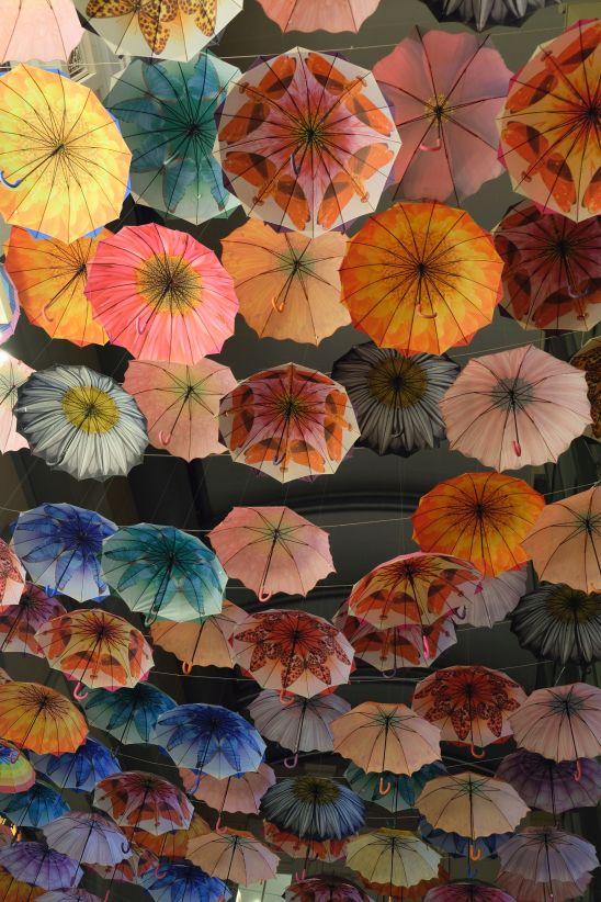 Dubai shopping mall umbrellas