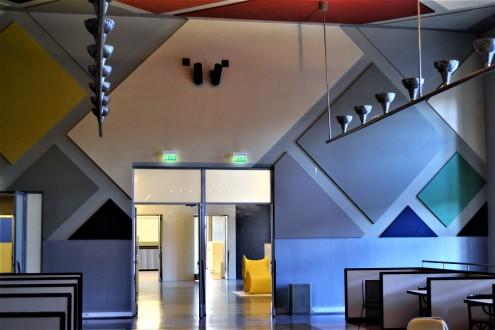 Aubette 1928 Strasbourg Modern architecture Arp Van Doesburg inside main room